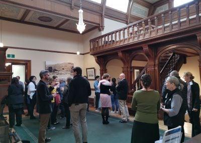 Workshop networking in Urrbrae House. Photo: Eva Sui