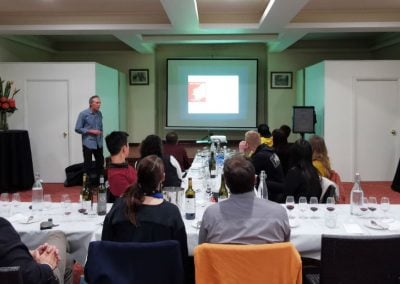 Dr Tony Proffitt introduces Centre members to the Margaret River wine region. Photo: Eva Sui